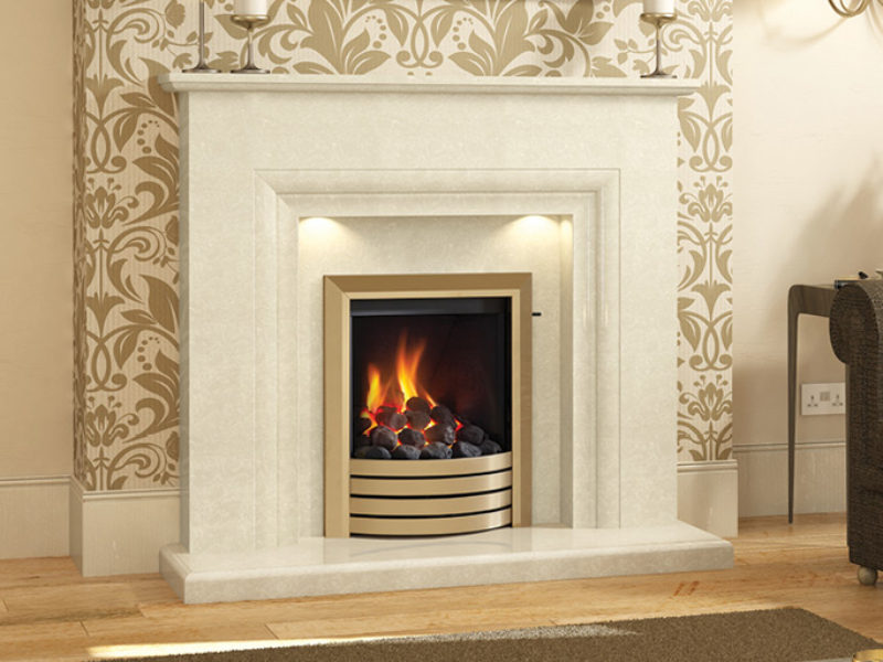 Milena Marble Fireplace