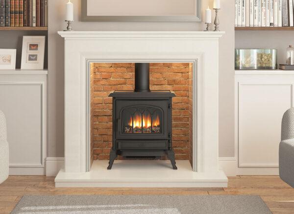 Odella  Inglenook Marble Fireplace
