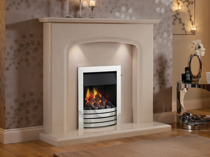Siena Marble Fireplace